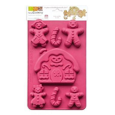 ScrapCooking Silicone Mould, Gingerbread Family