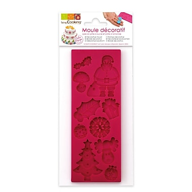 ScrapCooking Mould for Fondant, Christmas Theme
