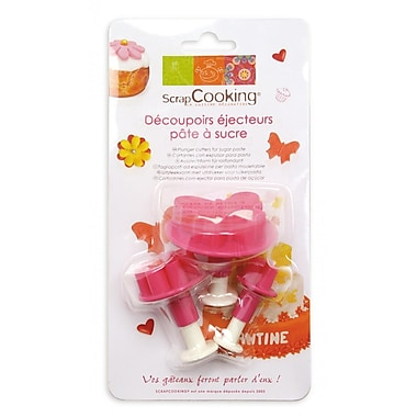 ScrapCooking Plunger Cutters for Fondant, Hearts/Flowers/Butterflies, 3/Pack