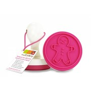ScrapCooking Gingerbread Man Silicone Stamp with Handle for Cookies and Fondant