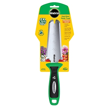Miracle-Gro® Titanium Bonded Hori Hori Garden Tool Made from Recycled Materials, 3/Pack