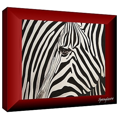 ArtWall 'Zebras Abstract' by Lindsey Janich Graphic Art on Wrapped Canvas; 12'' H x 18'' W