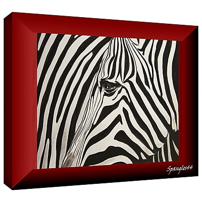 ArtWall 'Zebras Abstract' by Lindsey Janich Graphic Art on Wrapped Canvas; 24'' H x 36'' W