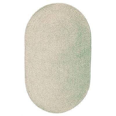 Homespice Decor Ultra-Durable Slate Solid Indoor/Outdoor Area Rug; Oval 3' x 5'