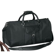 Bellino Vintage Voyager 21'' Leather Travel Duffel; Black