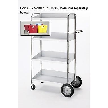Charnstrom Medium 4 Shelf Mobile Bin Utility Cart