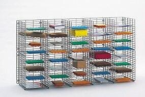 Charnstrom 40 Pocket Wire Sorter; 32.25'' H x 60'' W x 12'' D