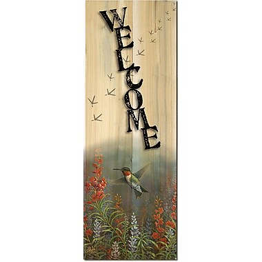 WGI Gallery Welcome Summer Hummer Graphic Art Plaque
