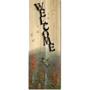 WGI GALLERY Welcome Summer Hummer by Sam Tim Graphic Art Plaque; 24'' H x 8'' W x 1'' D