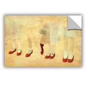 ArtWall Ruby Slippers by Antonio Raggio Art Appeelz Removable Wall Mural; 16'' H x 24'' W x 0.1'' D