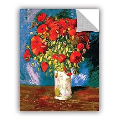 ArtWall Poppies by Vincent Van Gogh Art Appeelz Removable Wall Mural; 48'' H x 36'' W x 0.1'' D