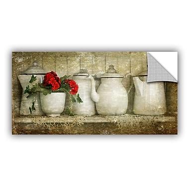 ArtWall Flower w/ Pots by Antonio Raggio Art Appeelz Removable Wall Mural; 18'' H x 36'' W x 0.1'' D