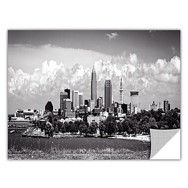 ArtWall Cleveland Pano 1 by Cody York Art Appeelz Removable Wall Mural; 24'' H x 48'' W x 0.1'' D