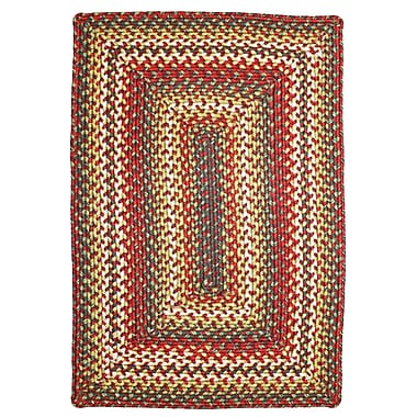 Homespice Decor Sunrose Red Indoor/Outdoor Rug; Oval 8' x 10'