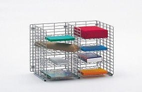 Charnstrom 8 Pocket Wall Hung Wire Sorter; 16.13'' H x 24'' W x 12'' D