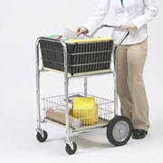Charnstrom Compact Dual Handle Wire Basket File Cart