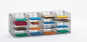 Charnstrom 16 Pocket Wall Hung Wire Sorter; 16.13'' H x 48'' W x 15'' D