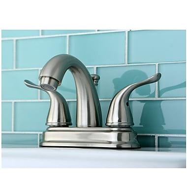 Kingston Brass Yosemite Two Handle Centerset Lavatory Faucet; Polished Chrome