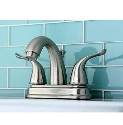 Kingston Brass Yosemite Two Handle Centerset Lavatory Faucet; Oil Rubbed Bronze