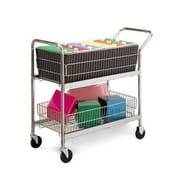 Charnstrom Medium Wire Basket File Cart w/ 4 Swivel Casters