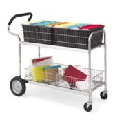 Charnstrom Long Wire File Cart w/ Cushioned Ergo Handle