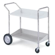 Charnstrom 2 Shelf Mobile Bin Utility Cart