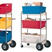 Charnstrom 3 Shelf Mobile Bin File Cart
