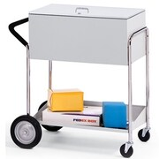 Charnstrom Medium File Cart w/ Rear Tires and Locking Top