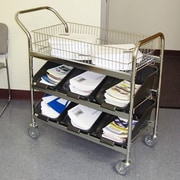Charnstrom Medium File Cart w/ Non Marking Casters