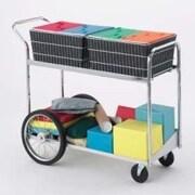 Charnstrom Long File Cart w/ Rear Wheels