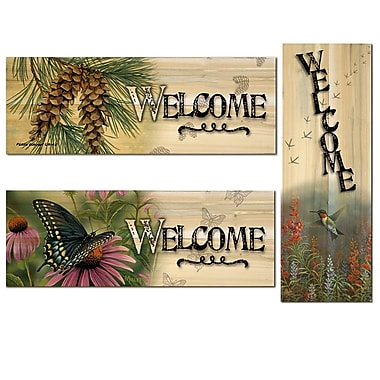 WGI Gallery Black Swallowtail Butterfly/Pine Cone/Summer Hummer 3 Piece Graphic Art Plaque Set