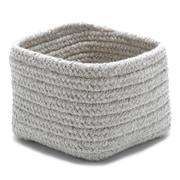 Colonial Mills Natural Shelf Square Basket  ; Light Gray