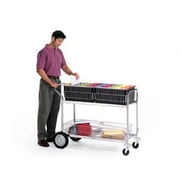Charnstrom Long Wire Basket File Cart w/ Front Bumper