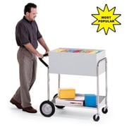 Charnstrom Medium Solid File Cart w/ Rear Tires