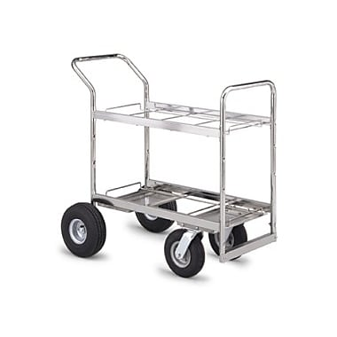 Charnstrom Medium Double Decker File Cart w/ Casters; Molded Rubber
