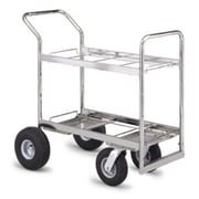 Charnstrom Medium Double Decker File Cart w/ Casters; Air Casters / Tires