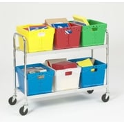 Charnstrom Tote File Cart; 36.75'' H x 21.5'' W x 43'' D