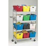 Charnstrom Long 4 Shelf Mobile File Cart
