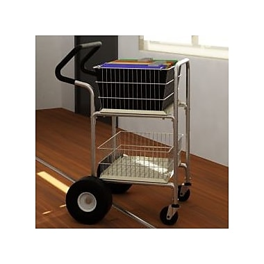 Charnstrom Compact File Cart w/ Rear Air Tires and Easy Push Handle