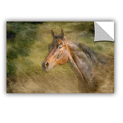 ArtWall Majestic Horse by Antonio Raggio Art Appeelz Removable Wall Mural; 12'' H x 18'' W x 0.1'' D