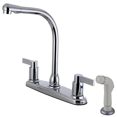 Kingston Brass Nuvofusion Double Handle Kitchen Faucet w/ Side Spray
