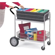Charnstrom Medium Wire Basket File Cart w/ Cushion Grip