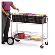 Charnstrom Long Wire Basket File Cart