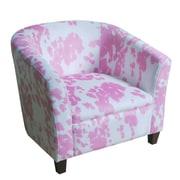 HomePop Pink Juvenile Barrel Kids Club Chair