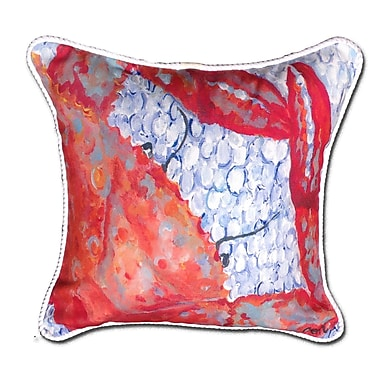 My Island Crab Indoor/Oudoor Throw Pillow