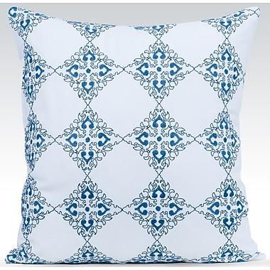 Gracious Living Exotic Throw Pillow; White