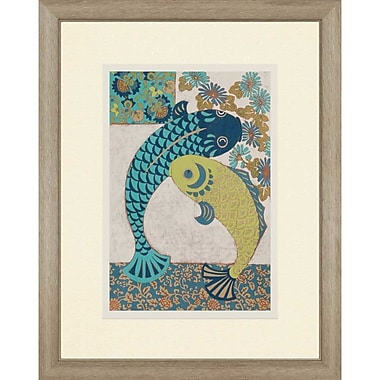 Paragon Koi Ornament I Gicl e by Zarris Framed Graphic Art