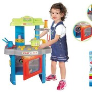 Berry Toys Fun Cooking Plastic Play Kitchen; Blue