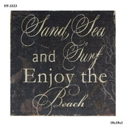 Cheungs Wooden Sand, Sea, Surf Textual Art