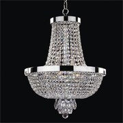 Glow Lighting Modern Times 8-Light Empire Chandelier; Signature Clear Crystal